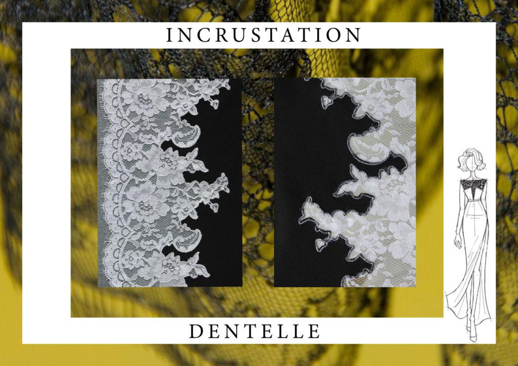 incrustation dentelle